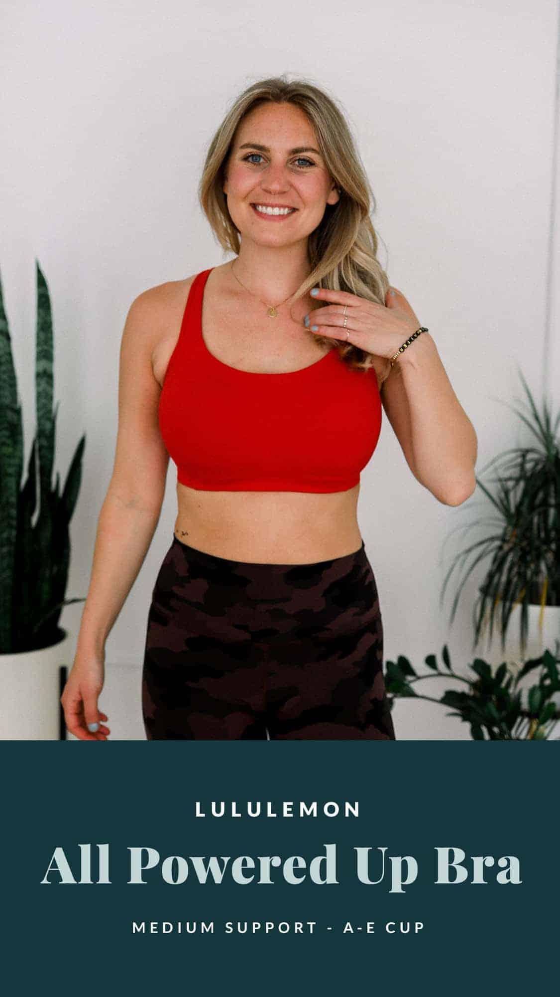 woman wearing red sports bra and bracelet