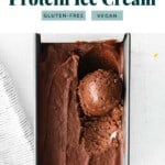 protein ice cream in cup