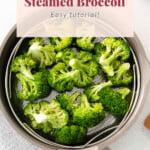 broccoli in steamer