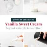vanilla sweet cream in glass