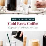 how to make vanilla sweet cream cold brew.