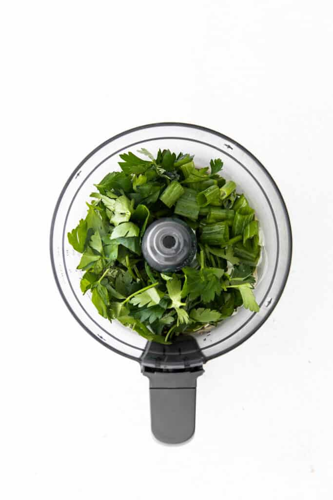 green goddess dressing ingredients in food processor