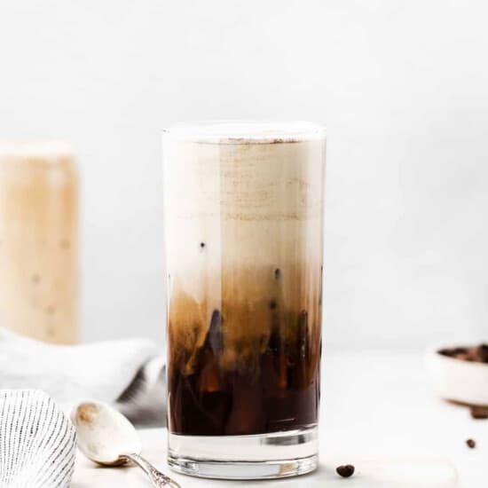 iced latte in glass