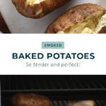 smoked baked potatoes