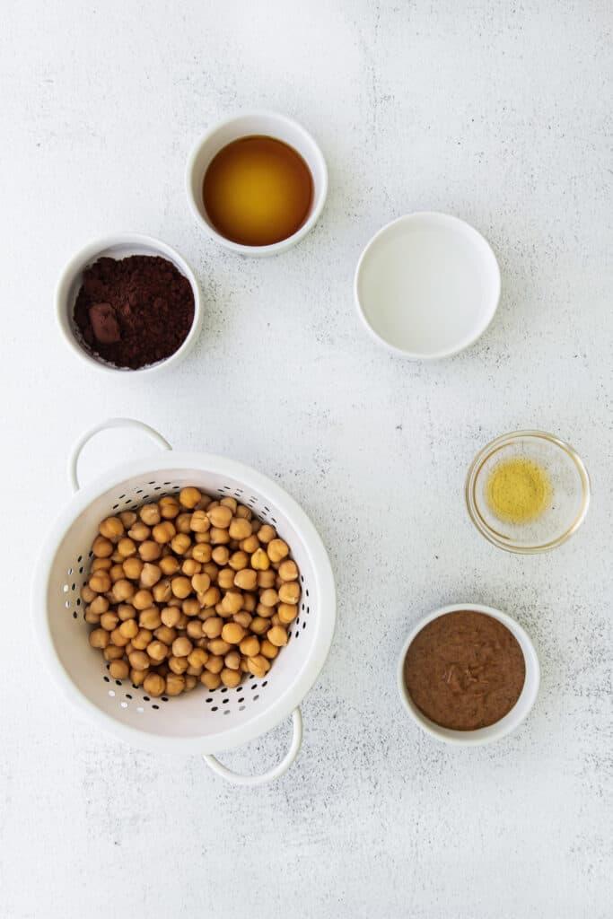hummus ingredients on countertop