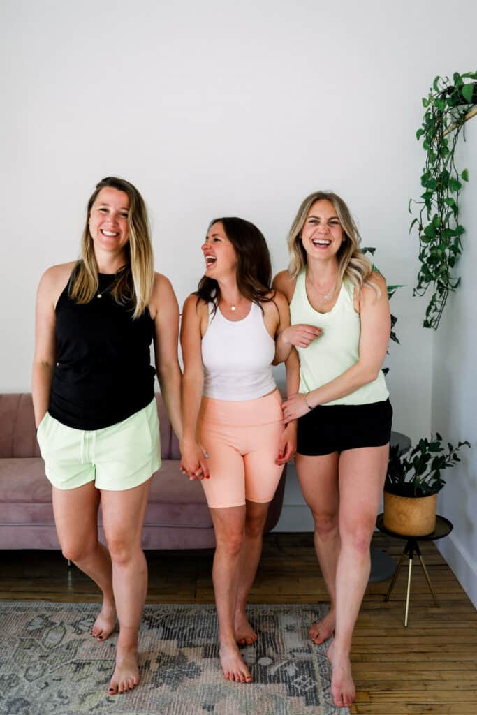 team fit foodie wearing lululemon shorts and smiling at the camera