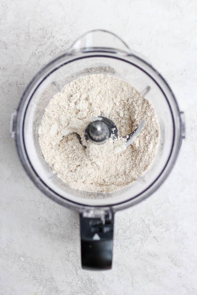 ground oat flour in food processor