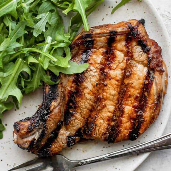 pork chop on plate