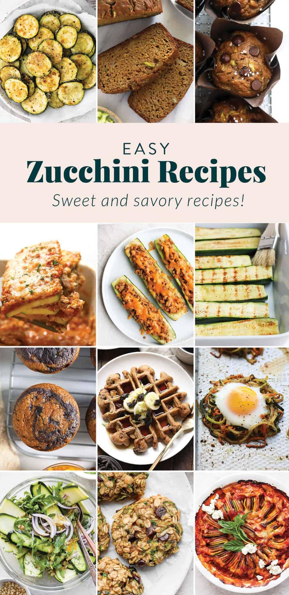 Zucchini recipes in one picture