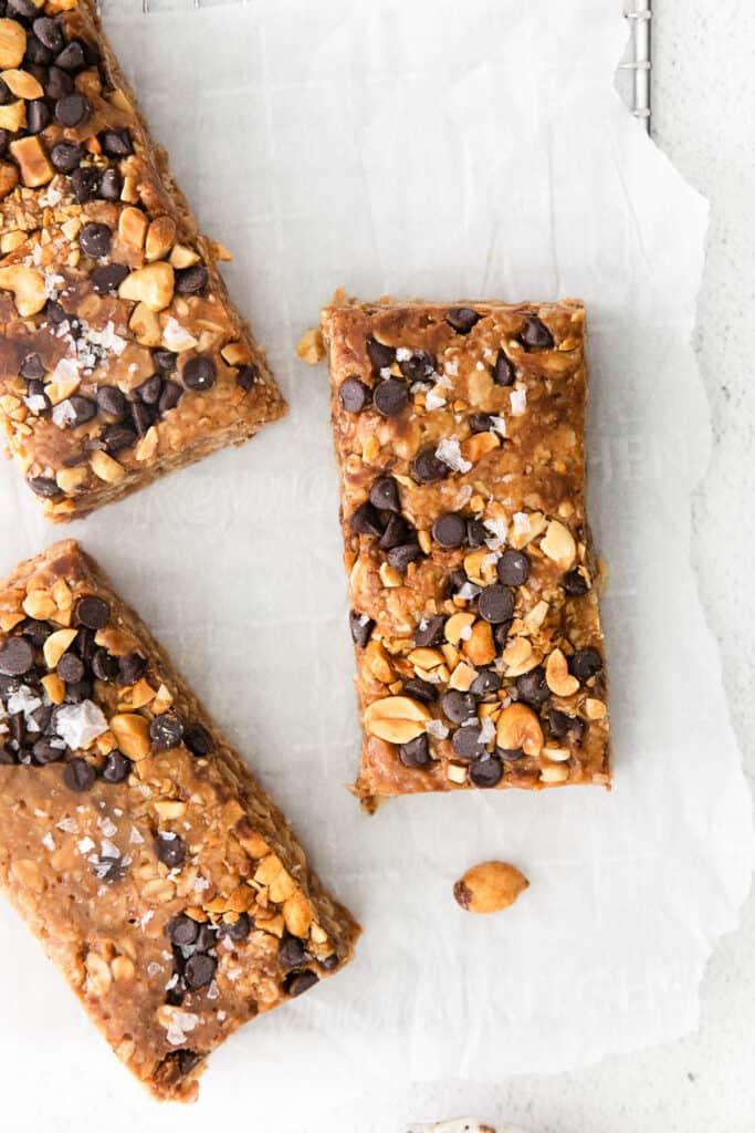 granola bars on countertop