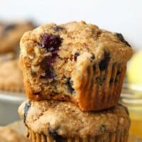 stacked muffins