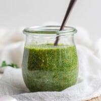 sauce in jar
