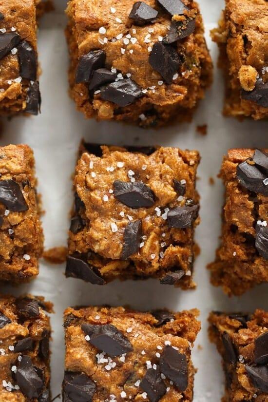pumpkin cookie bars