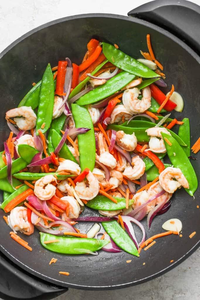stir fry in wok