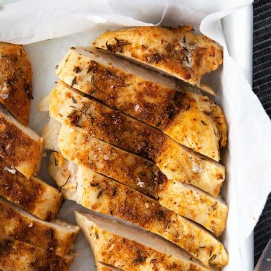 chicken breast in dish