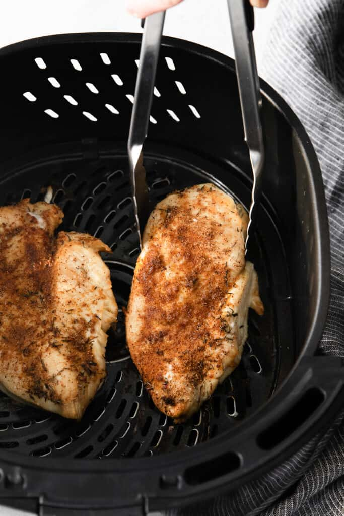 cooked chicken breast in air fryer