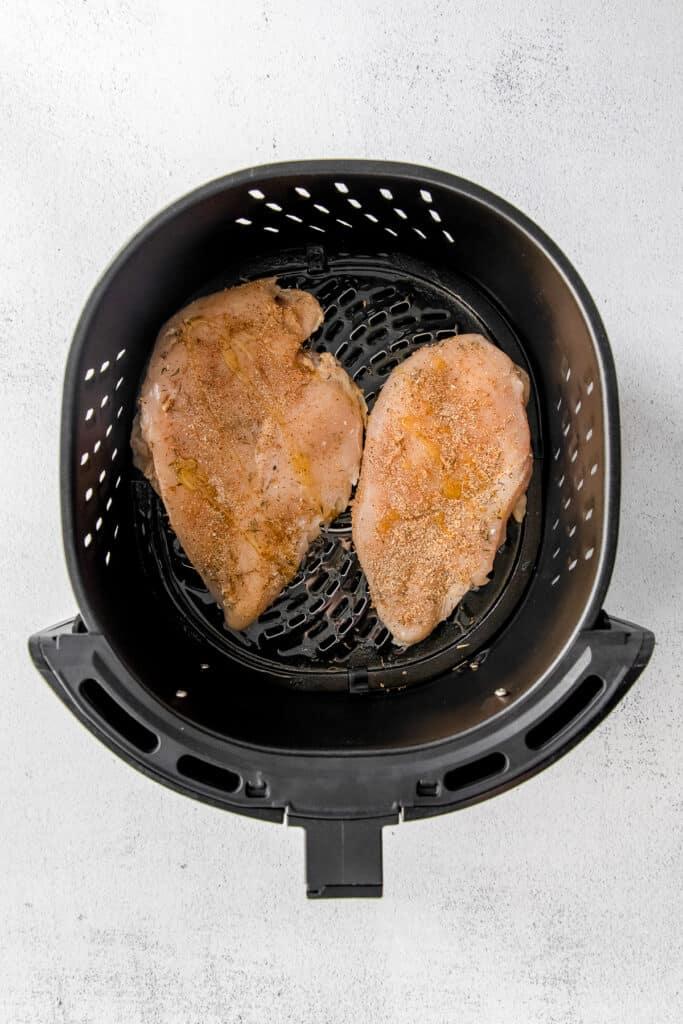 raw chicken in air fryer