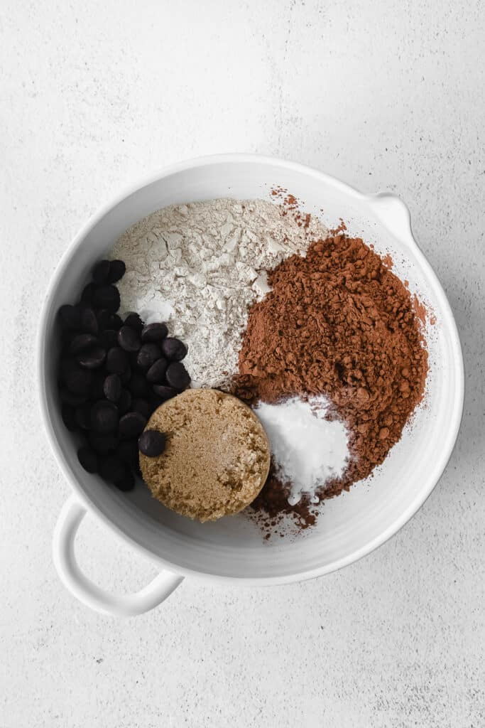 Dry ingredients for pumpkin bread in a bowl.
