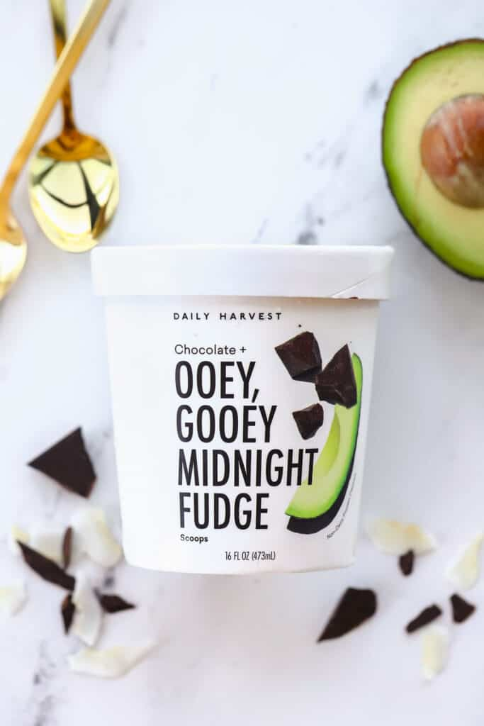 daily harvest scoops ice cream in a pint