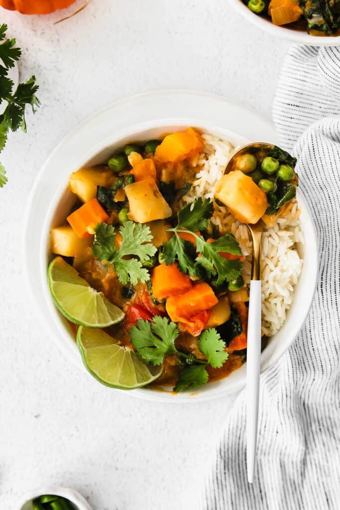 pumpkin curry in bowl
