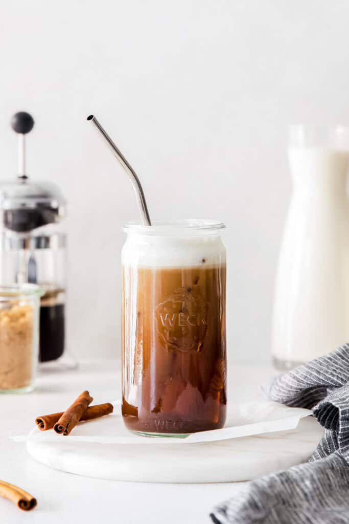 espresso drink in glass