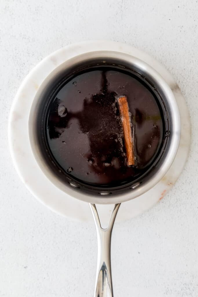 brown sugar simple syrup in a pot