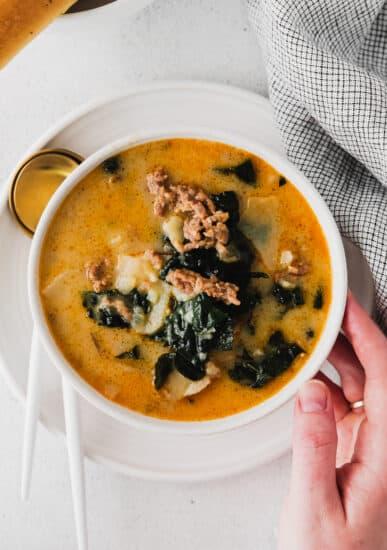 zuppa toscana in a bowl