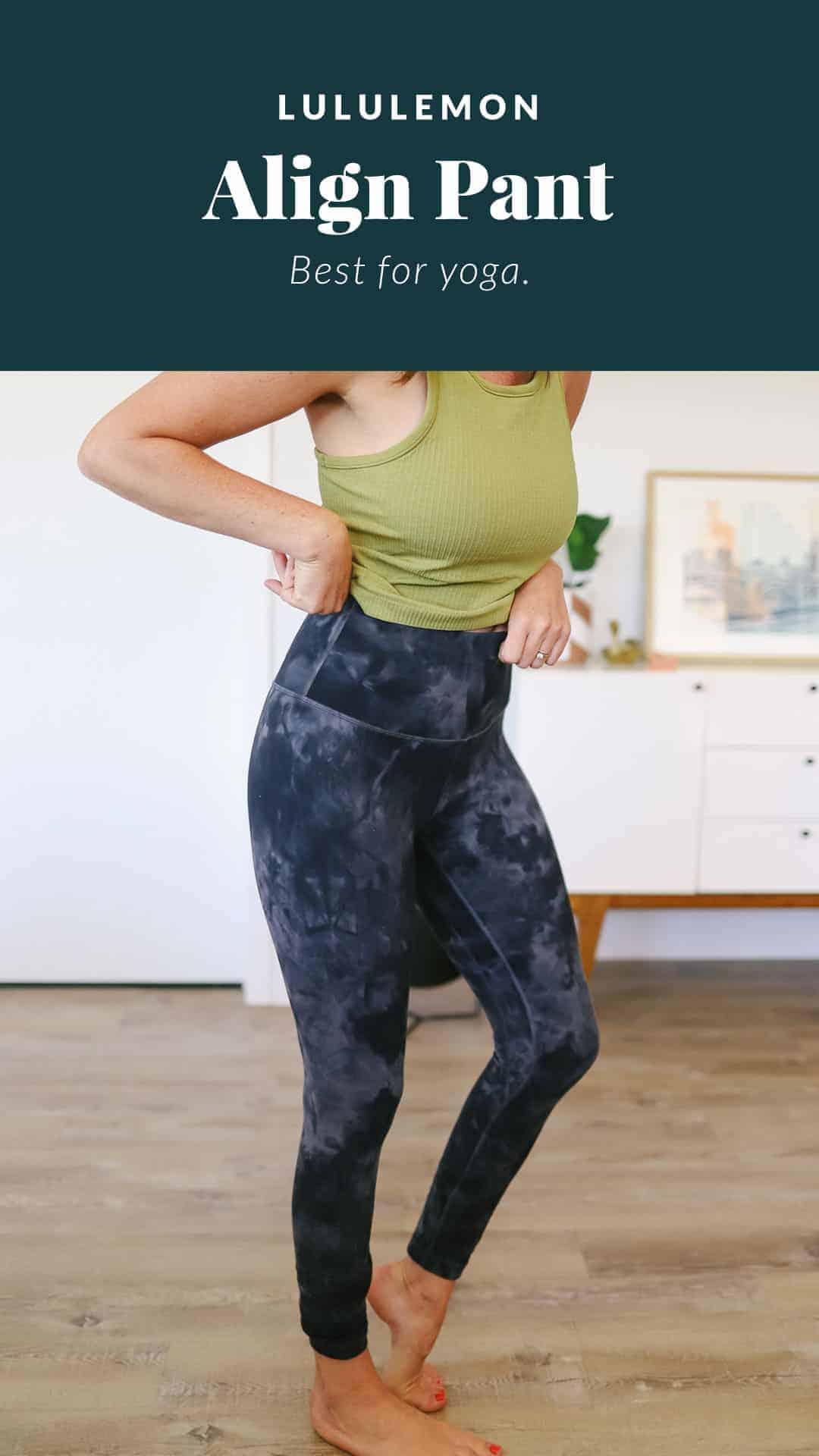 woman wearing align leggings