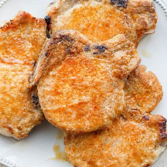 pork chops on plate