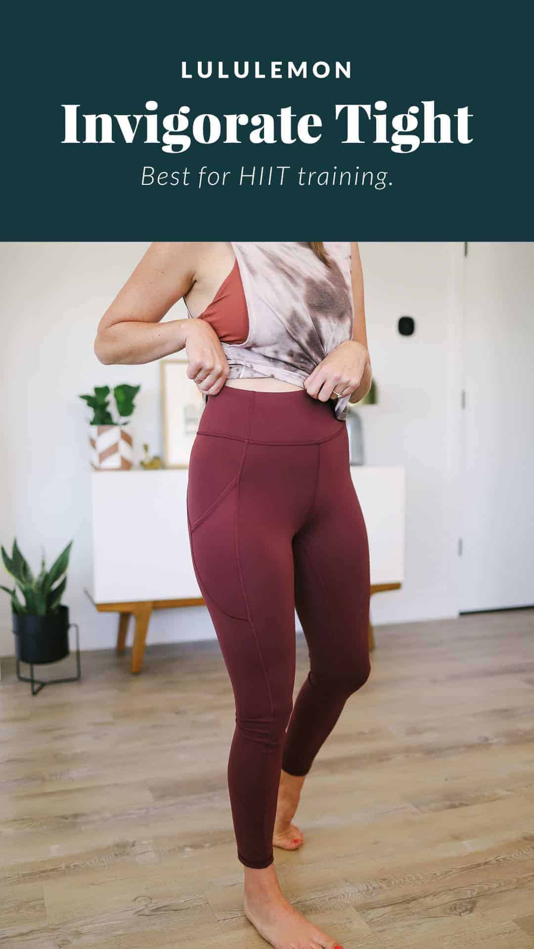 woman wearing invigorate leggings with a tie dye tank top