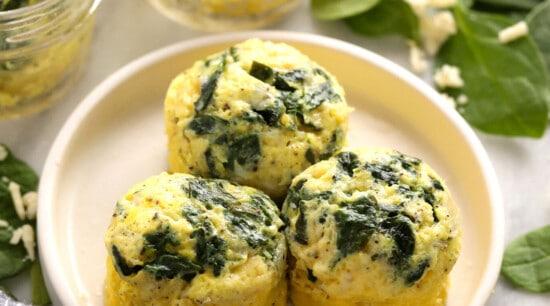 egg bites on plate