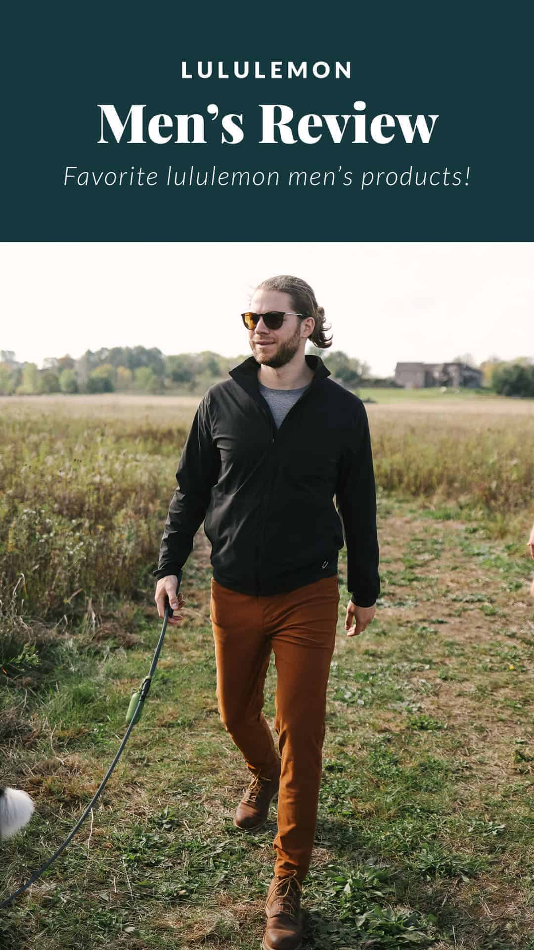 man wearing a lululemon jacket