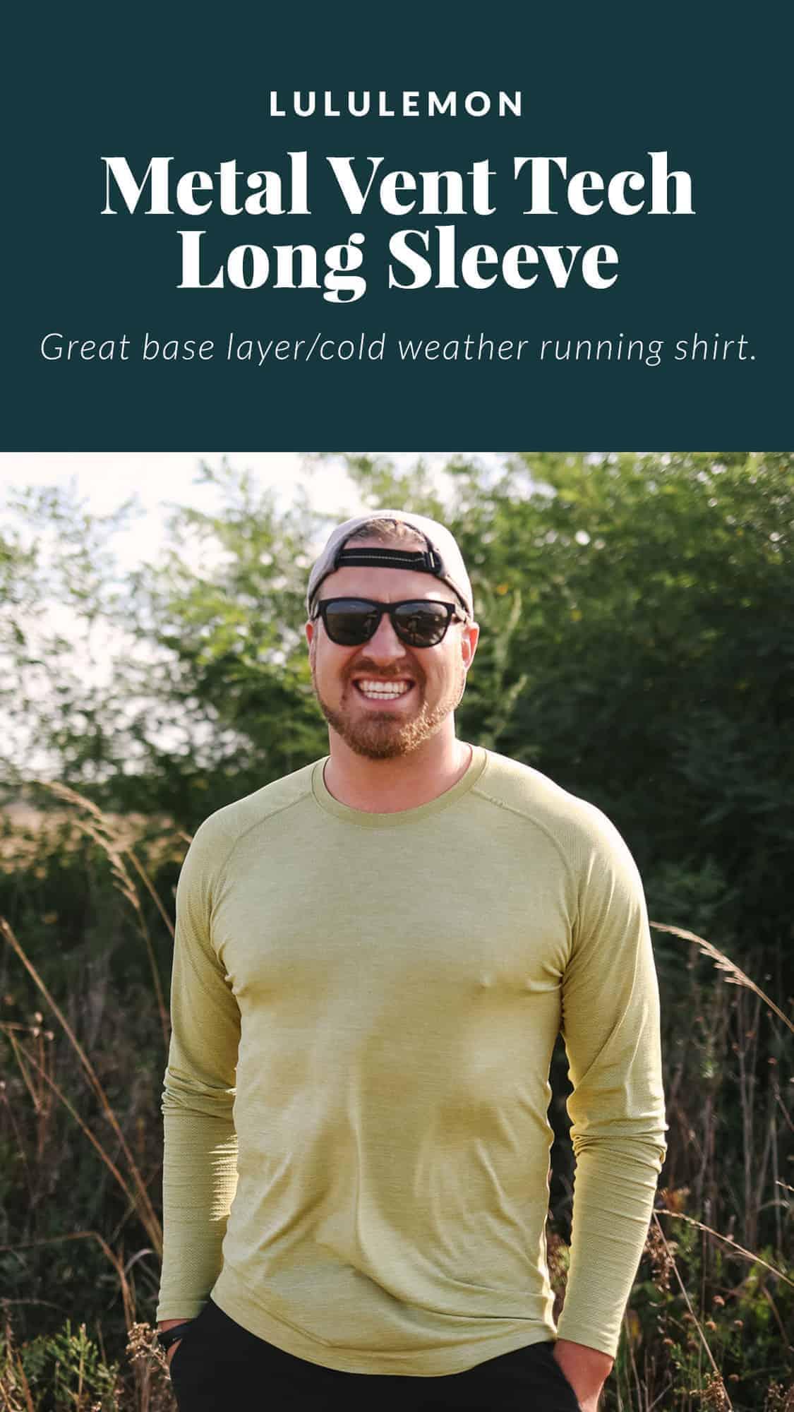 man wearing long sleeve lululemon shirt