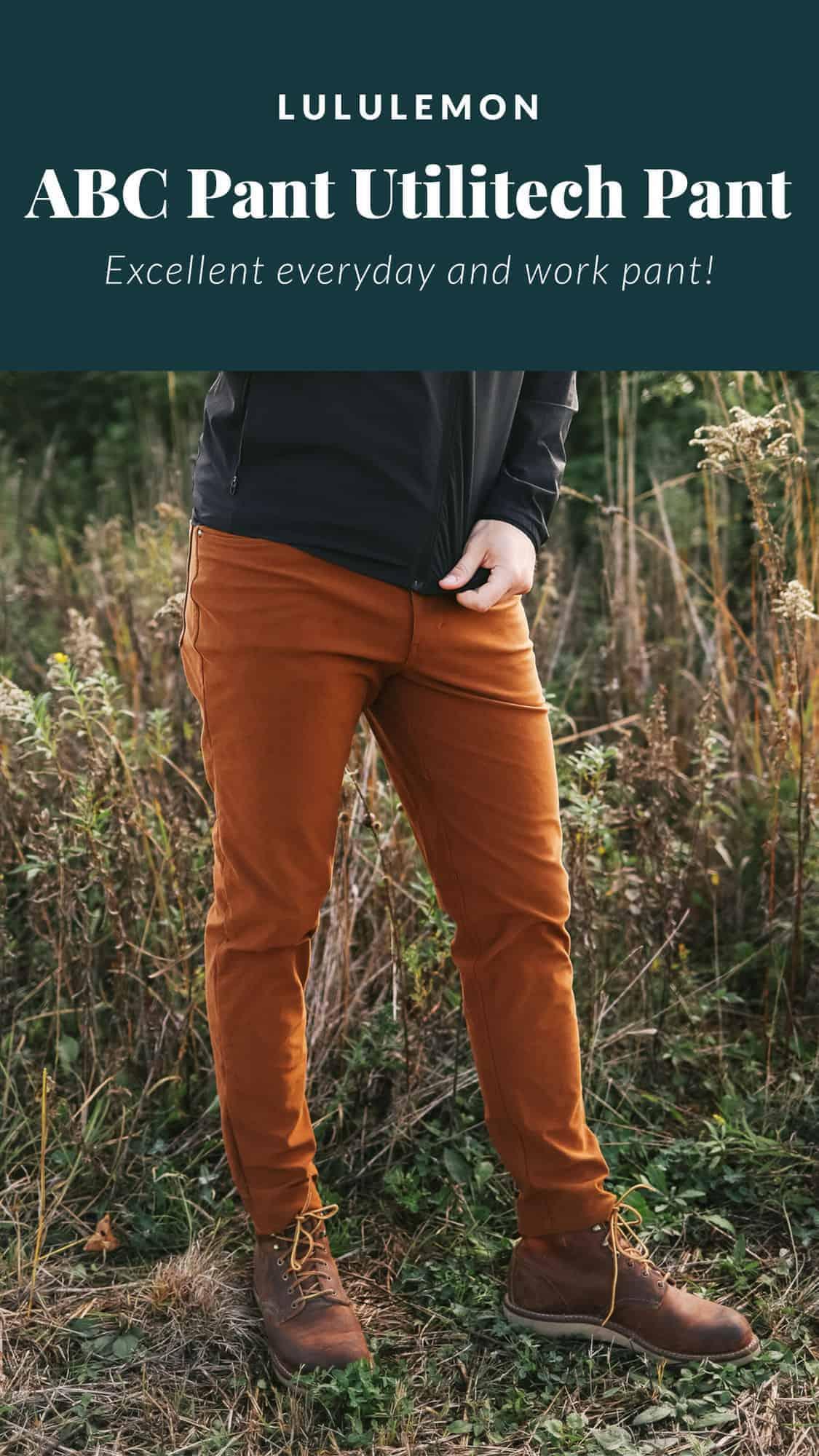 man wearing lululemon pants