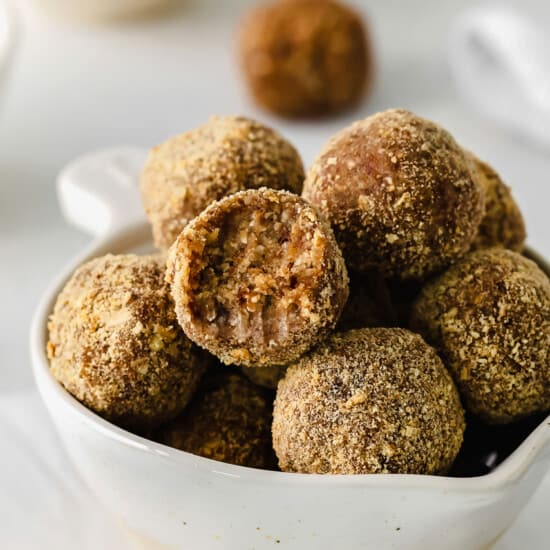 Energy balls in a bowl.